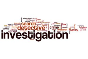 Investigation word cloud